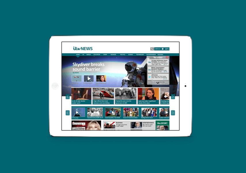 ITV NEWS WEBSITE RE-DESIGN